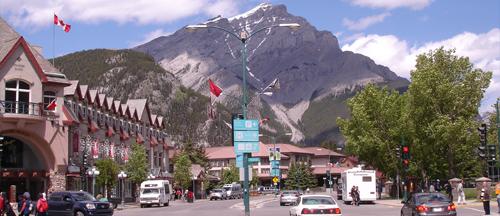 Main Street, Banff, AB